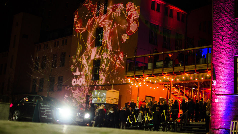 Interactive Facade by OiOi & Veli Creative at Slush