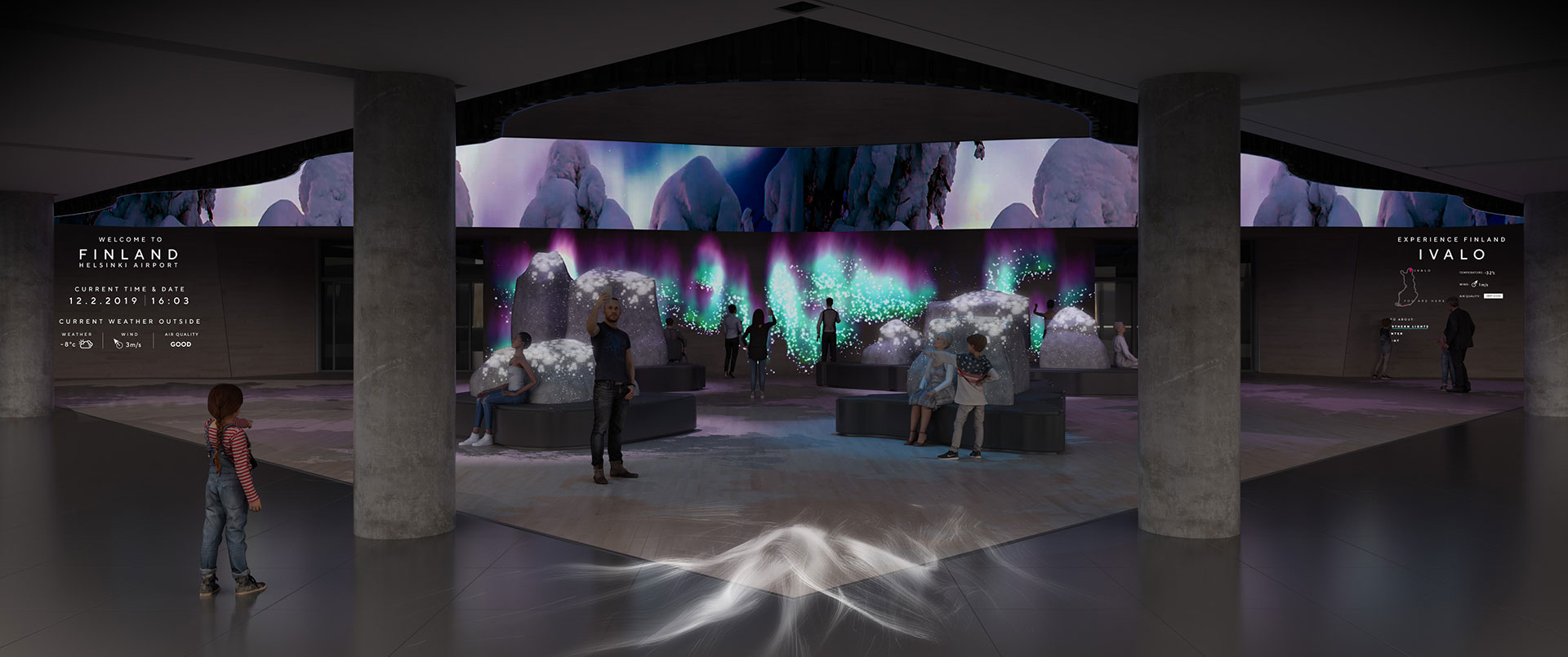 Interactive and immersive nature experience by OiOi, Granlund and Finavia